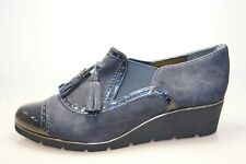Van Dal Boyce Midnight Suede Womens Wedge Shoes Size UK 5 / EU 38 Navy (G2A)
