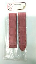 NEW 100% ORIGINAL CARTIER PINK ALLIGATOR LEATHER STRAP 19mm FOR BUCKLE STYLE