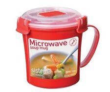Sistema Klip It Single Microwave Soup To Go Mug, 656ml, Assorted Colours (red)