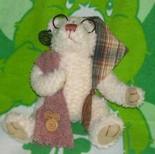 DAN DEE COLLECTORS CHOICE BEAR WITH GLASSES, STOCKING CAP, SCARF,ONE OWNER, EUC
