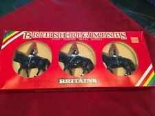 Britains Regiments Set 7229 ~3 Mounted Horse Guards British Lead Soldiers W/ Box