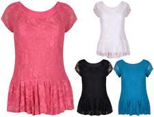Camisas y tops de mujer Camiseta corta de encaje