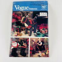 Vogue Craft Pattern 7601 Reindeer Christmas Package Hobbyhorse UNCUT VINTAGE