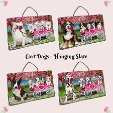 I Love Cart Dog Cat Hanging Slate, Valentine Pet Photo Lovers Gift Wall art