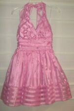 B Darlin Pink Halter Style Party Prom Dress Size 7/8 EC!