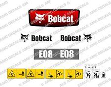 BOBCAT E08 MINI DIGGER EXCAVATOR DECAL STICKER SET