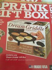 """Prank Gift Box """"Dream Griddle"""" Joke Gag Funny Fake 11.25 x 3.25"""