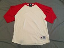 New With Tags Champion Ragland White / Red Mid Sleeve T-Shirt Men's Size XL