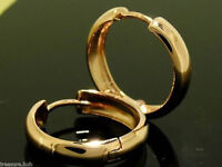 E008- Genuine 9K 9ct SOLID Rose GOLD Large HUGGIES / Hoop Earrings
