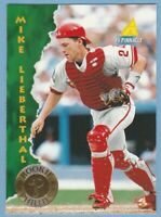 1995 Pinnacle #156 Mike Lieberthal Rookie RC Philadelphia Phillies Combined Ship