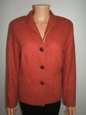 ESCADA 42 12 Orange Rust Red Tweed Wool Designer Womens Jacket Designer Blazer