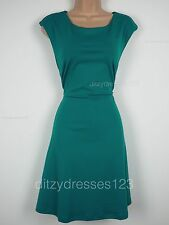 BNWT South Teal Fit and Flare Ponte Dress Size 14 Petite Stretch RRP £32