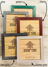 Rustic Wooden Picture Frames - Natural Solid Distressed Wood - Wall/ Tabletop