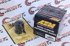 AEM Oil/Water/Trans Temperature Display Gauge 30-4402 & Autometer 52mm Gauge Pod