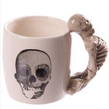 Gothic Skeleton Shaped Handle Ceramic Mug
