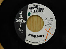 Yvonne baker 45 WHAT A DIFFERENCE LOVE MAKES / FUNNY WHAT TIME CAN DO ~ Jamie M-