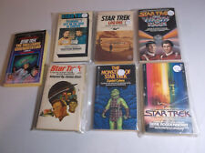 Vintage Star Trek Paperback Book Collection 7 Issues Excellent Condition Bagged
