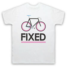 FIXED GEAR BICYCLE FIXIE RETRO STYLE BIKE RIDING CYCLE MENS WOMENS KIDS T-SHIRT