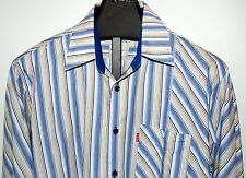 Pepe Jeans London UK Button Front Casual Cotton Long Sleeve Stripes Flip Cuff
