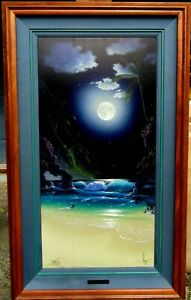 Al Hogue RARE Diamond Moon Hand Signed & #'d HUGE Framed ARTIST PROOF Canvas NR.