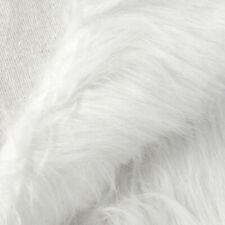 Luxury Shag Faux Fur Shaggy Long Pile Hair Fabric White Furry Christmas XMAS