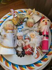 Vintage 1960s Japan Christmas Lot Angels Santa Ornaments Kitsch