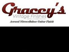 -Black - Gracey's Vintage Finishes Nitrocellulose Guitar Lacquer Aerosol.