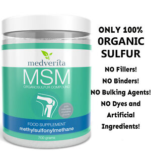 700 g MSM Organic Sulfur PURE ADDITIVE FREE Odorless Powder Joint Health Support