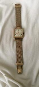 Fab ! Vintage Elgin DeLuxe 555 10K GF Men's Watch