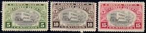 1946 Costa Rica SC# C128-C130-Hospital of St. John of God-3 Different Stamps-M-H