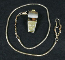 Vintage 1970s Whistle & Chain, Gold Plated BEST Brand, Retired NYPD Cop Estate