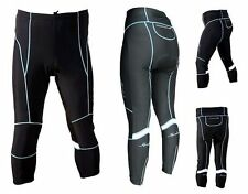 New Woman Fall Length Cycling Pants Size L (Black with Blue Line)