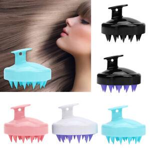 Shampoo Scalp Shower Body Washing Hair Massage Massager Brush Comb Silicone~
