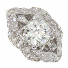 1.74ct Old European Cut Gia Certified Antique Engagement Ring