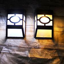1Pcs Warm White Garden Fence Yard Lamp Solar Wall Mount LED Outdoor Path Light