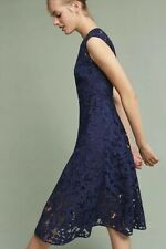 NWT $418 Shoshanna Marian Floral Blue Lace Dress Size 12