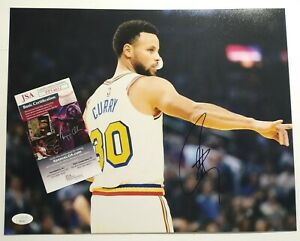 Stephen Curry Golden State Warriors Signed Autographed NBA 11x14 Photo JSA