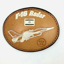 Leather F16  Radar Belt Buckle Brown Leather Westinghouse Fighter Plane