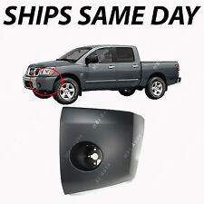NEW Primered - LH Left Front Bumper End Cap for 2004-2007 Nissan Titan / Armada