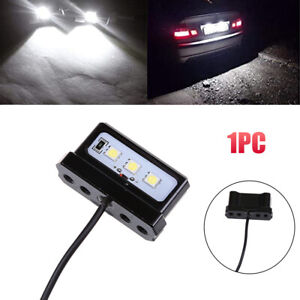 White Car Auto Motorcycle Waterproof Tail Number License Plate LED Light Bulb