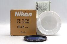 @ Ship in 24 Hours! @ Mint! @ Nikon Screw-In Mount B12 Blue 62mm Lens Filter