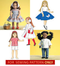 SEWING PATTERN! MAKE VINTAGE 50'S DOLL CLOTHES! FIT AMERICAN GIRL MARYELLEN!