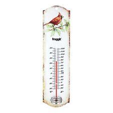 Froggit Vintage Blechthermometer Im Vogeldesign Gartenthermometer Retro