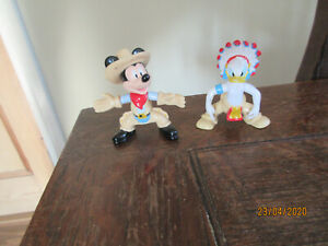 DISNEY COLLECTIBLE DONALD DUCK INDIAN MICKEY MOUSE COWBOY PLAYFIGURE CAKE TOPPER