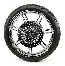 "Arlen Ness 7 Valve Chrome Front Wheel Rim 21"" X 3.50"" Tire Package Harley ABS BW"