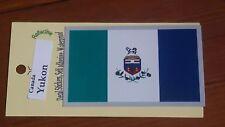BRAND NEW BEST QUALITY CANADA YUKON FLAG ADHESIVE VINYL DECAL STICKER REFLECTIVE