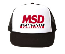 vintage MSD ignitions hat Trucker Hat mesh hat black New racing hat