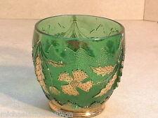 Antique EAPG U.S.Glass Co. Emerald Green Spooner In The Delaware Pattern