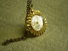 Parker Womens Antique Necklace Watch Swiss Made Hand Wind Does Not Wind