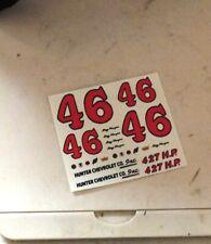 1/32 Eldon slot car CHEVY Stock car Waterslide DECALS #46 Roy MAYNE